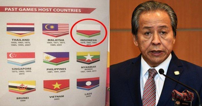 东运会册子倒置印尼国旗  大馬政府向印尼道歉