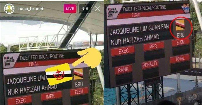 網傳隆東運會搞錯汶萊國旗