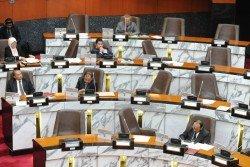 雪州立法議會是在週一(24日)召開,并在週二(25日)下午1時宣佈休會,此次的州議會共通過2項動議。 (攝影:徐慧美)