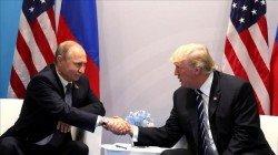 美國眾議院25日以壓倒性多數,通過對俄羅斯、伊朗和朝鮮實施新制裁案。圖為美國總統特朗普(右)與俄羅斯總統普京(左)在20國集團(G20)峰會期間會談。