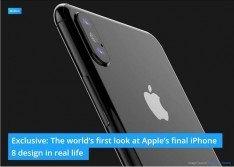 iPhone 8各界千呼萬喚,最新間諜照再傳曝光。外媒取得數張照片,據稱是iPhone 8最終設計版本的實體原型,要讓果粉先睹為快。