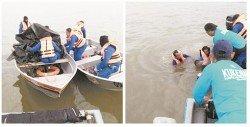笨珍海域發生狂風暴雨,造成5艘漁船翻覆。柔州消拯局接獲通知后,立即與水警、大馬海事執法機構、民防部隊及漁民等,一同展開救援工作。