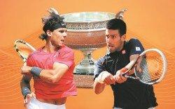 劍指衛冕法網的佐科維奇(右),今年若無意外將在半決賽面對賽會9冠王納達(左)的挑戰。