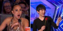 蔡威澤(右)《美國達人秀》展神技,驚呆現場所有人。