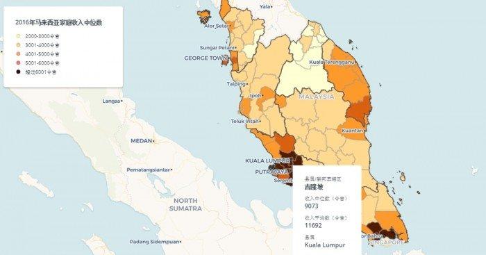 86%縣屬家庭收入低于RM5200