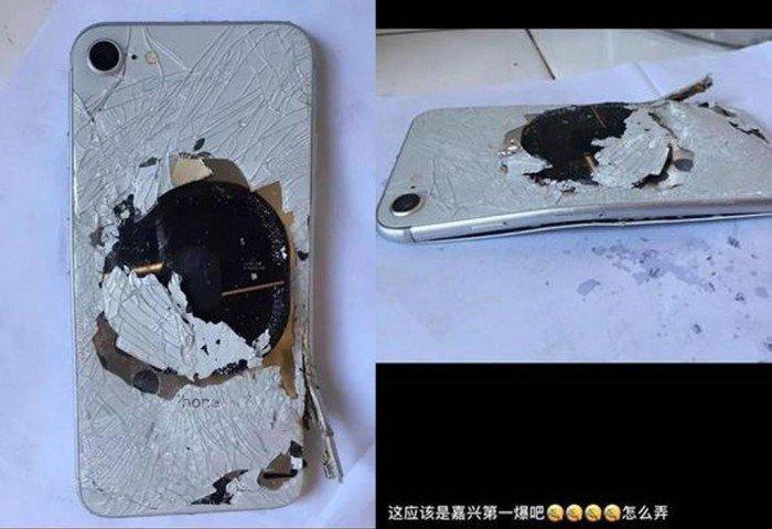 iPhone 8充電出事! 冒煙燒出洞報銷
