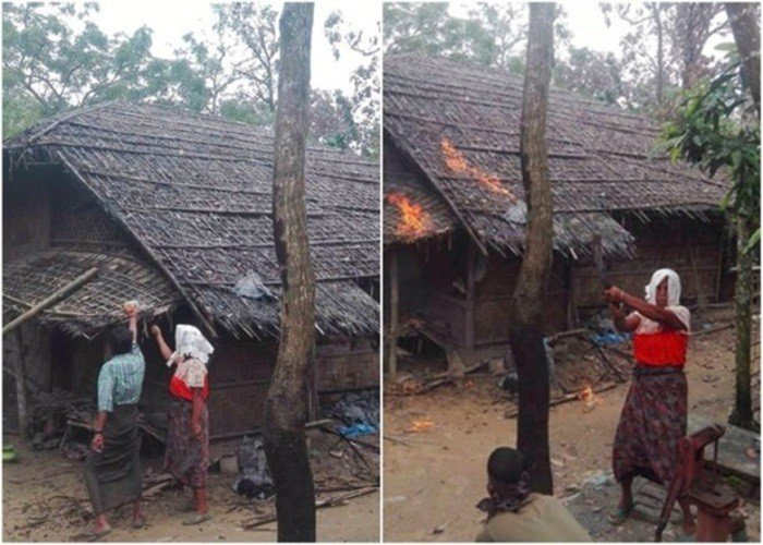 缅僧人称罗兴亚人自焚家园 嫁祸缅军烧村