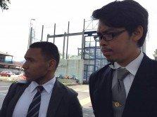 依瑪沙菲益(左起)及阿敏,將在縱火焚燒宗教學校中,作7名嫌犯的代表律師。