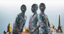 網民將馬航空姐制服「改裝」成包頭包臉的造型,神似忍者 龜中的包頭面罩;這張圖片雖然廣獲網民轉發,但也引起了 部分穆斯林的不滿,認為不尊重他人的宗教文化。