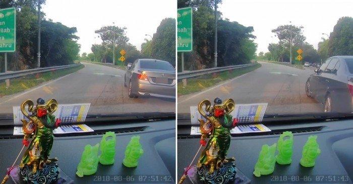 【獨家】疑不滿險遭碰撞 寶馬司機3度退撞轎車