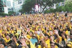 和平集會是基本人權,而我國近年來舉行過數場的淨選盟萬人大集會。(攝影:張真甄)