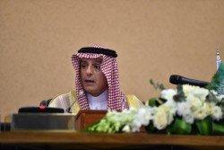 沙地阿拉伯外交部長朱拜爾。