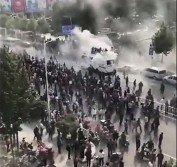 中國數百名退伍軍人,今年10月初在山東省平度市抗議,並與警方起衝突。警方發射催淚彈,試圖驅散抗議民眾。
