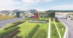 依斯干達特區內的工業園外資廠商不減。圖為努沙再也科技園外觀。 (受訪者提供)