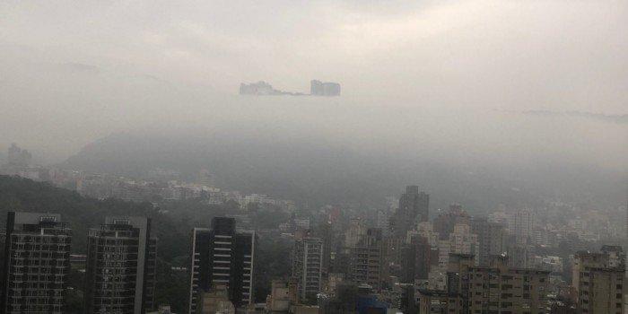 台北驚現海市蜃樓? 網傳照片引熱議