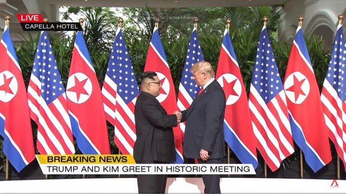 特金「歷史一握」 美朝峰会拉开揭幕