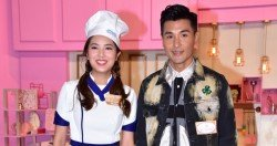 陳展鵬與女友單文柔受訪時鬥嘴耍花槍,足見兩人感情穩定。