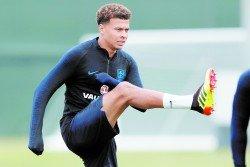 英格蘭中場德勒-阿里上週六已恢復了訓練,有望在迎戰哥倫比亞的世界杯16強賽傷愈復出。-路透社-