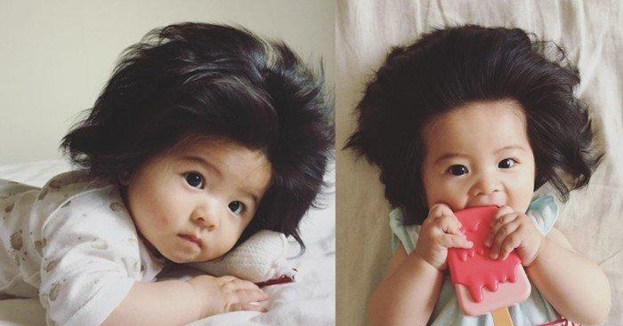 7個月大日本寶寶IG爆紅 烏黑濃密頭髮驚人!