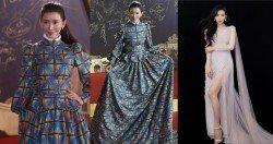 林志玲穿格子裙現身,卻被網友批評顯胖又顯老,成為話題,之後換了一套禮服,仙女樣強勢回歸。
