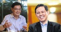 人民行動黨預計兩周內宣佈新幹部職務,第一助理秘書長人選深受關注。新加坡財政部長王瑞傑(左)和貿工部長陳振聲(右)兩人呼聲高。