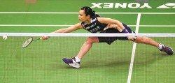 中華台北世界一姐戴資穎(圖)在16強逆轉香港一姐張雁宜,朝著香港羽球賽三連冠的目標邁進。