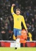 巴西王牌內馬爾罰入點球,以個人的國家隊第60球,氣走烏拉圭。