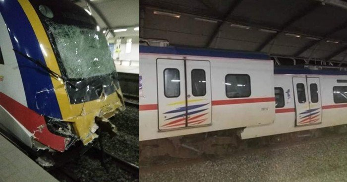 丹絨馬林發生火車相撞事故 電動火車服務延誤