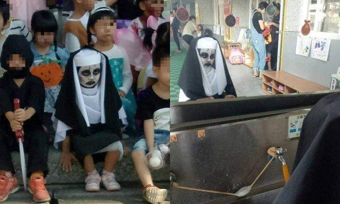 女童扮鬼修女超入戲 同學都不敢笑了