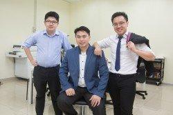 GPS Fleet合伙創辦人林良聰(Onion)、陳建吉(Michael)和李嘉升(Joseph)。