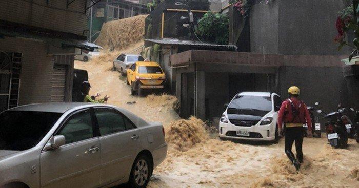 台灣北部超大豪雨 3市發警報