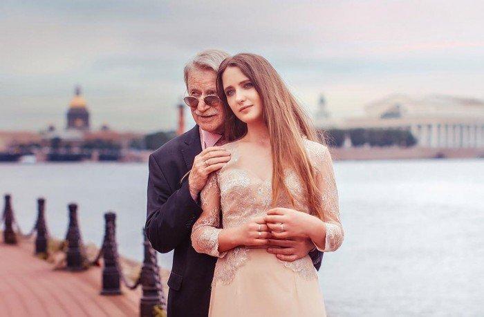 27歲妻不願懷孕 87歲俄男星宣布離婚