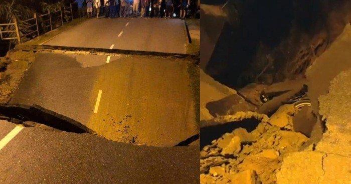 吉打西岭發生橋塌 2男乘摩哆經過墜河身亡
