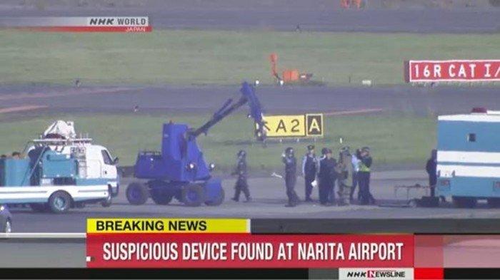 成田機場跑道發現疑似爆裂物