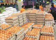 由于外銷香港和沙巴,加上天氣影響雞蛋產量,隆雪區的雞蛋批發價,過去一個月飆漲1令吉20仙。(攝影:張真甄)