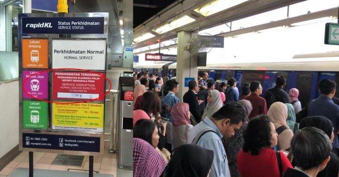 輕快鐵訊號系統故障 Rapid KL允許乘客退款