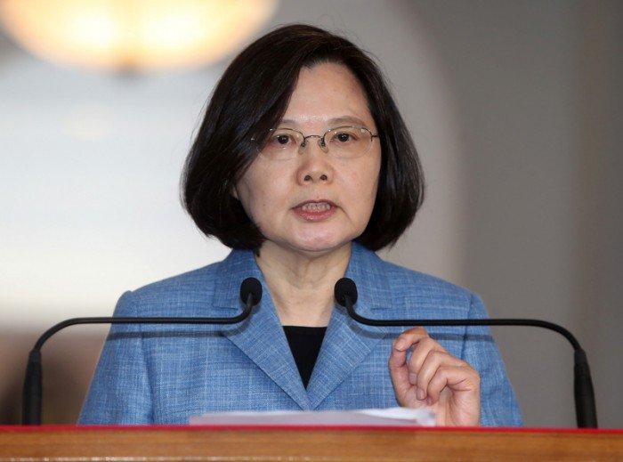 蔡英文:台灣不會接受和平協議