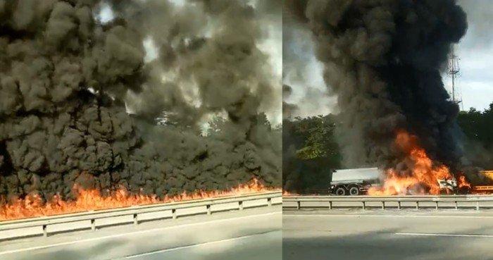 【南北大道羅里相撞起火】震撼視頻曝光