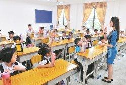 教育部從今年起提倡快樂教育,讓學生快樂學習,老師則快樂教學。(攝影:邱繼賢)