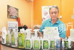 Nanoaire以「非化學」天然產品入駐國內市場,為市場帶來對大自然無害的清洁用品。圖為創辦人李必山。(攝影:徐慧美)