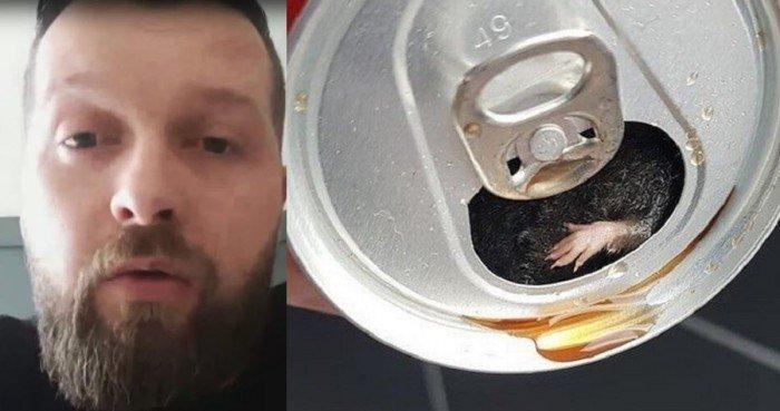 男子聲稱喝汽水驚見老鼠 可口可樂迅速回應