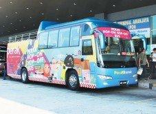 經改裝的怡保觀光巴士周六上午8時30分從九洞美露拉也安定繁榮巴士終站出發,載送乘客穿梭怡保12個站。
