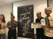 洪慧芳(左起)、阿都拉查、周國球及阿瑪依斯邁,為搶救印尼葉猴展開行動。