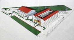 培才華小首階段工程,包括一棟4層樓36間教室的建築和一間多用途禮堂。(概念圖)