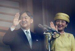 日皇德仁和皇后雅子即位後首度公開露面。