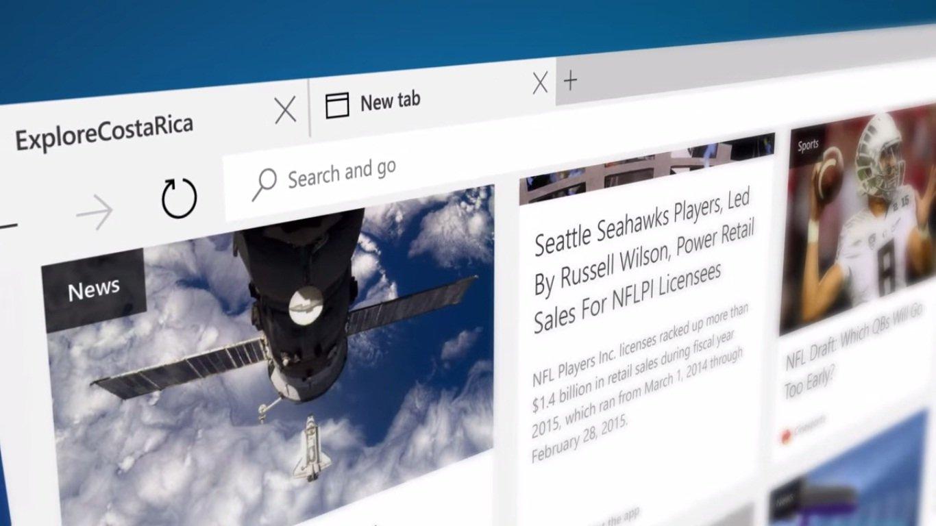 """微软先前一直使用Project Spartan为代号的新浏览器,正式定名""""Microsoft Edge""""。(图取自YouTube)"""