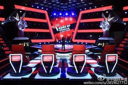 《中国好声音》新一季导师座位安排曝光。(图取自《中国好声音》微博)