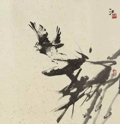徐锦江作品《归飞急》。(图取自《澎湃新闻》)