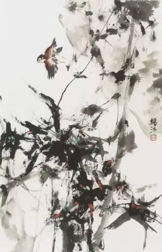 徐锦江作品《俊逸》。(图取自《澎湃新闻》)