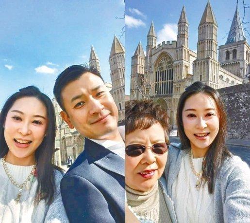 杨怡的姐姐杨卓娜,于面子书上载多张在英国拍摄的风景照,当中还有与母亲及老公的合照。